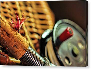 One Fly One Rod One Creel Canvas Print by Pat Cook
