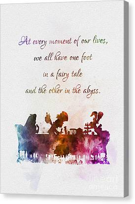 One Foot In A Fairy Tale Canvas Print by Rebecca Jenkins