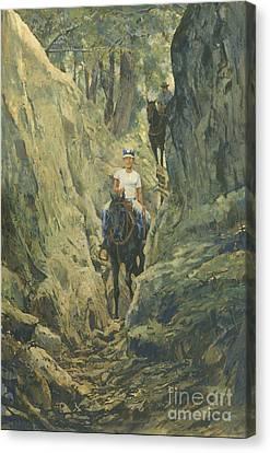 One Horse Gap Canvas Print by Don  Langeneckert