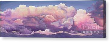 A Summer Evening Landscape Canvas Print - One In A Million by Elisabeth Sullivan