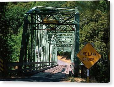 One Lane Bridge Canvas Print by Soli Deo Gloria Wilderness And Wildlife Photography