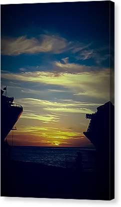 Canvas Print featuring the photograph One Last Glimpse by DigiArt Diaries by Vicky B Fuller