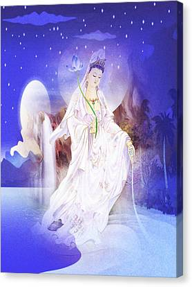 One Leaf Kuan Yin 1 Canvas Print