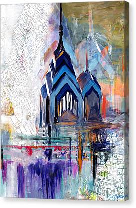 One Liberty Place And Two Liberty Place 229 1 Canvas Print by Mawra Tahreem