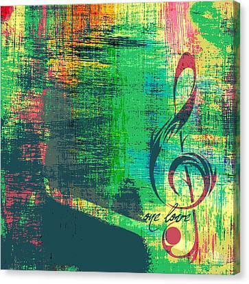 One Love Bob Marley Canvas Print by Brandi Fitzgerald