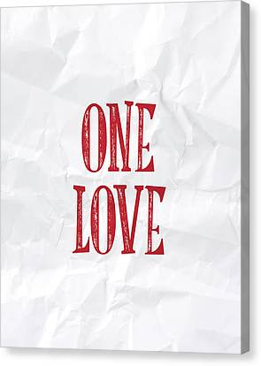 One Love Canvas Print by Samuel Whitton