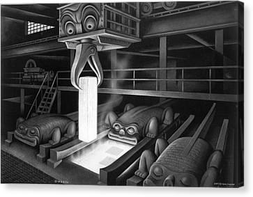 One Lump Please Canvas Print by Boris Artzybasheff