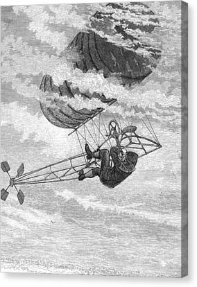 One-man Dirigible, 1878 Canvas Print by Granger