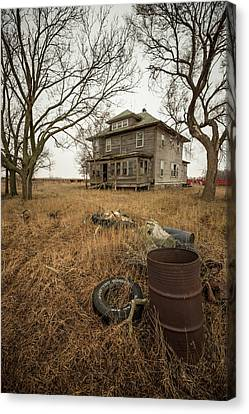 Abandoned Houses Canvas Print - One Man's Trash... by Aaron J Groen