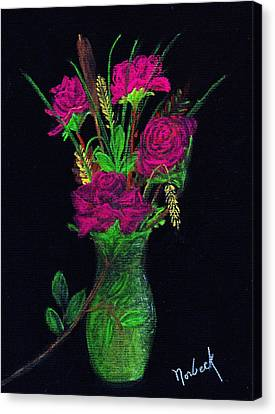 One More Rose Canvas Print by Thomas J Norbeck