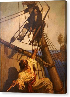 One More Step Mr. Hands - N.c. Wyeth Painting Canvas Print by PaintingAssociates