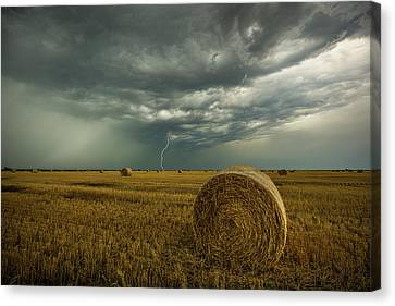 Canvas Print featuring the photograph One More Time A Round by Aaron J Groen