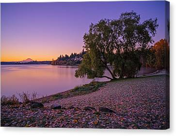 One Morning At The Lake Canvas Print