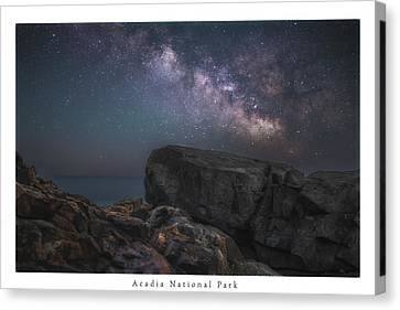 Rocky Maine Coast Canvas Print - One Night One View by Chad Tracy