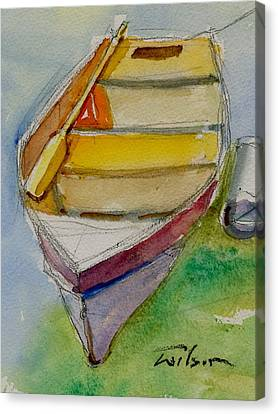 One Oar Gone Canvas Print by Ron Wilson