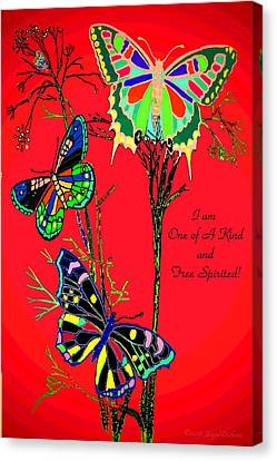One Of A Kind Canvas Print by Joyce Dickens