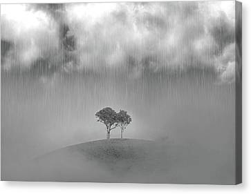 Wine Scene Canvas Print - One Of Those Days by Az Jackson