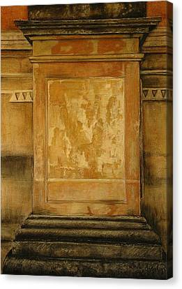 One Pillar ...of The The Lions Of Leon Canvas Print by Shirley McMahon