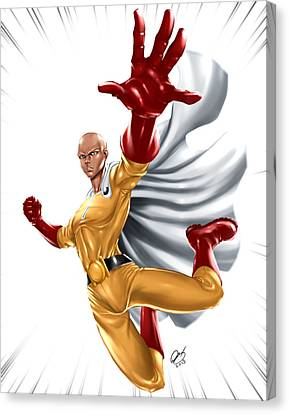 One Punch Man Canvas Print by Pete Tapang