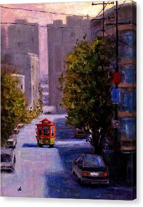 Masters Winners Canvas Print - One Quiet Afternoon In San Francisco.. by Cristina Mihailescu