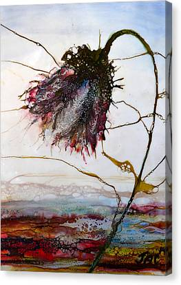 One Red Blossom Canvas Print