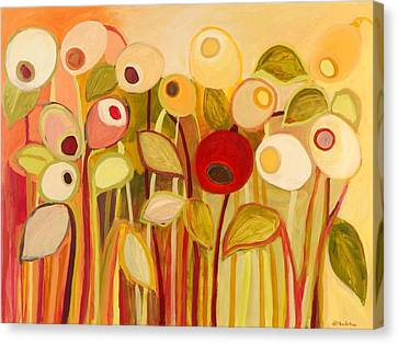 One Red Posie Canvas Print by Jennifer Lommers