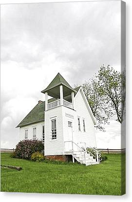 One Room School House Canvas Print by Christine Belt