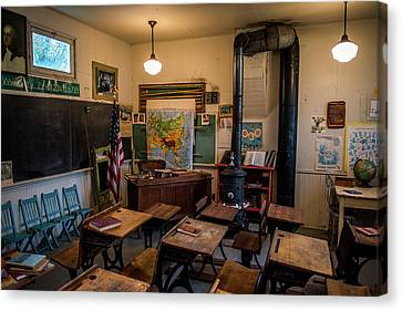 One Room School Houses Canvas Print - one Room School House by Paul Freidlund