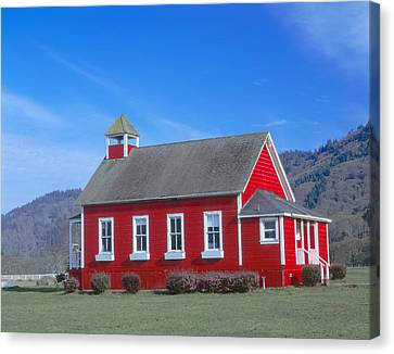 One-room Schoolhouse Along Highway 1 Canvas Print by Panoramic Images