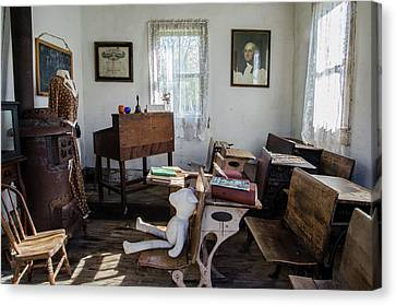 Canvas Print featuring the photograph One Room Schoolhouse by Ann Bridges