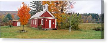 One-room Schoolhouse In Austerlitz Canvas Print by Panoramic Images