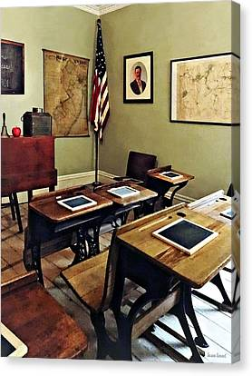 School Houses Canvas Print - One Room Schoolhouse In New Jersey by Susan Savad