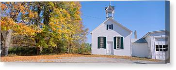 One-room Schoolhouse In Upstate New Canvas Print by Panoramic Images