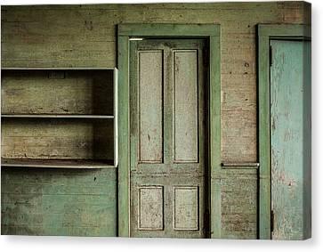 One Room Schoolhouse Interior - Damascus Pennsylvania Canvas Print by David Smith
