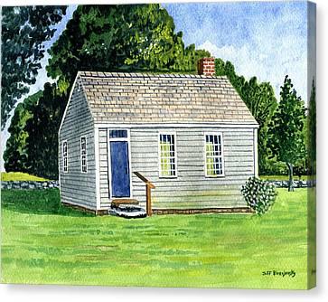 One Room Schoolhouse Stafford Springs Ct. Canvas Print by Jeff Blazejovsky