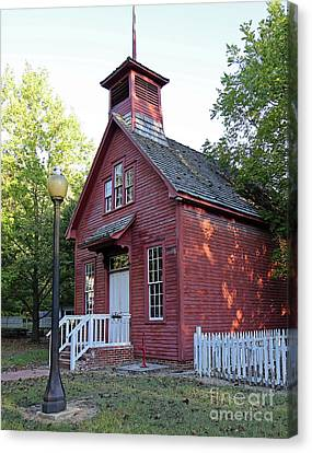 Billie Creek Canvas Print - One Room Schoolhouse by Steve Gass