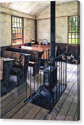 One Room Schoolhouse With Stove Canvas Print