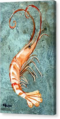 One Shrimp Canvas Print by Elaine Hodges
