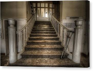 Crutch Canvas Print - One Step At A Time by Nathan Wright