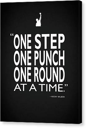 One Step One Punch One Round Canvas Print by Mark Rogan