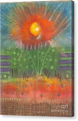 Canvas Print featuring the painting One Sunny Day by Angela L Walker