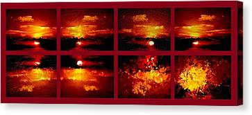 One Sunset Many Interpretations Canvas Print by Bruce Nutting