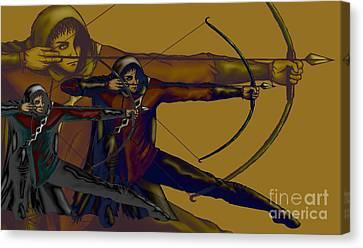 One Target Canvas Print by Noelle Osborne