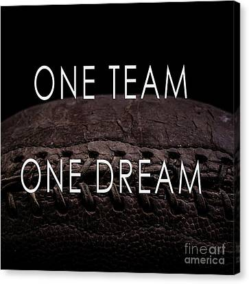 One Team One Dream Football Poster Canvas Print by Edward Fielding