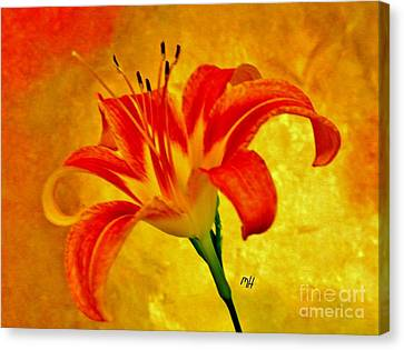 Canvas Print featuring the photograph One Tigerlily by Marsha Heiken