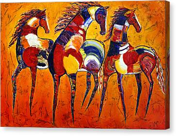 Canvas Print featuring the painting One Tribe by Jennifer Godshalk