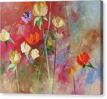 One Violet Rose Canvas Print