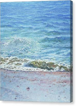Canvas Print featuring the painting One Wave by Martin Davey