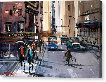 One Way Street - Chicago Canvas Print by Ryan Radke
