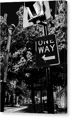 One Way To Go Canvas Print by Gulf Island Photography and Images
